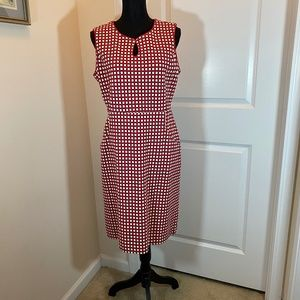 NWOT Land's End Sleeveless Dot Dress